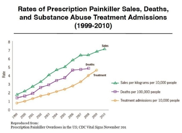 The Opiate Epidemic, in one graph.